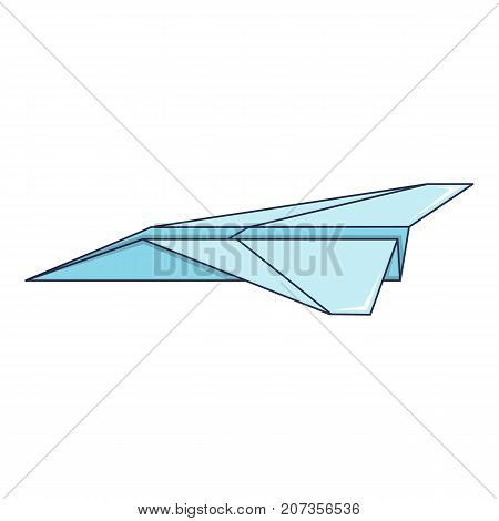 Origami airplane icon. Cartoon illustration of origami airplane vector icon for web