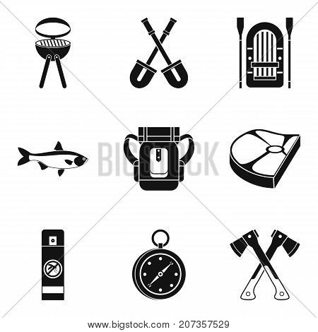 Campaign icons set. Simple set of 9 campaign vector icons for web isolated on white background