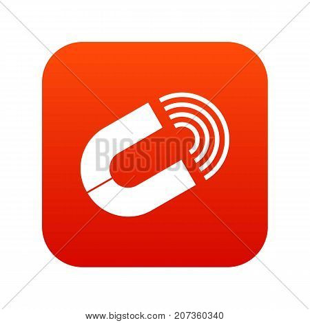 Horseshoe magnet icon digital red for any design isolated on white vector illustration