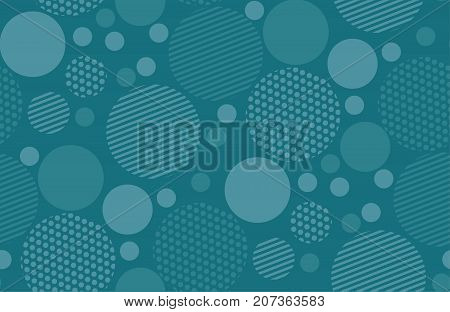 Abstract geometry circle background. vector seamless pattern for fabric, wrapping paper, print and web surface design. marine blue color abstract concept design.