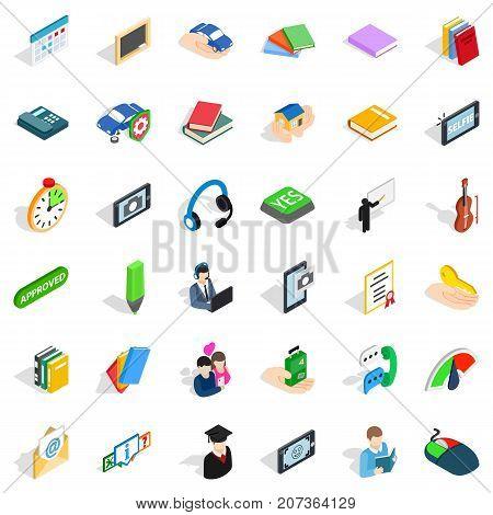Indicator icons set. Indicator style of 36 indicator vector icons for web isolated on white background