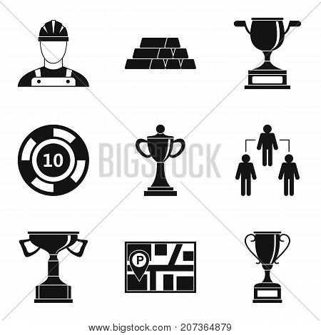 Interaction icons set. Simple set of 9 interaction vector icons for web isolated on white background
