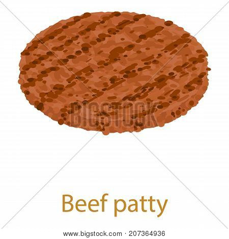 Beef cutlet icon. Isometric illustration of beef cutlet icon for web