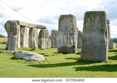 Stonehenge an ancient prehistoric stone monument near Salisbury, Wiltshire, UK.