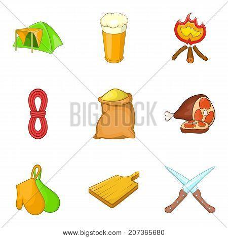 Procurement of product icons set. Cartoon set of 9 procurement of product icons for web isolated on white background