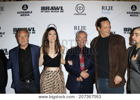 LOS ANGELES - SEP 29:  Don Johnson, Jennifer Carpenter, Udo Kier, Vince Vaughn at the