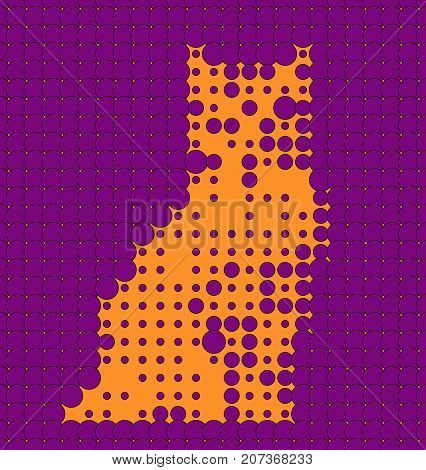Abstract Orange And Purple Cat Looking different from any distances