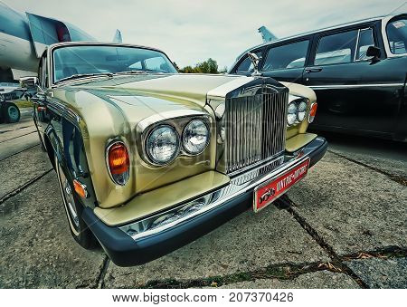 KYIV, UKRAINE - OCTOBER 2017: Vintage Car Rolls Royce at the