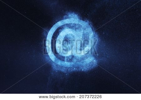 E-mail Sign. E-mail Symbol. Abstract Night Sky Background