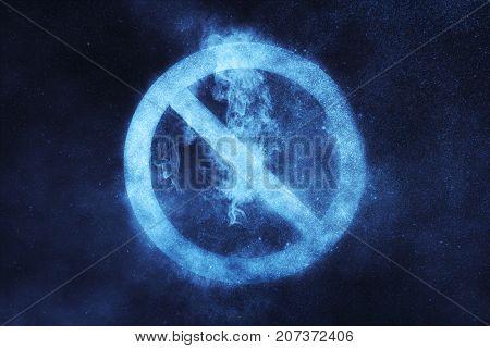 No Sign, No Symbol. Abstract Night Sky Background