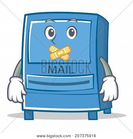 Silent mailbox character cartoon style vector illustration