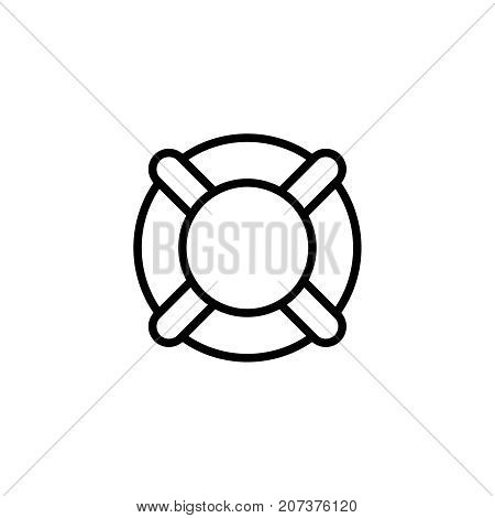 Swimming circle flat icon. Single high quality outline symbol of summer for web design or mobile app. Thin line signs of swimming for design logo, visit card, etc. Outline logo of diving