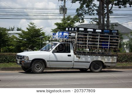 Drinking Water Delivery Truck Of Mae Klang Company