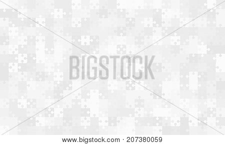 375 Grey Material Design Puzzles Pieces - Vector Illustration. Jigsaw Puzzle Blank Template or Cutting Guidelines. Vector Background.