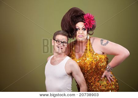 Drag Queen With Friend