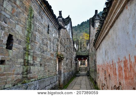 The Qin clan ancient village in Guangxi province in China. The most of the houses there are more than three hundred years old.