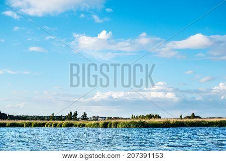 Lielupe river estuary to Baltic sea, Jurmala, Latvia