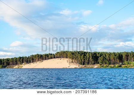 Lielupe river estuary to Baltic sea, Balta Kapa, Jurmala, Latvia
