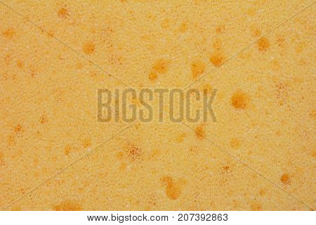 the texture of the sponge for washing and wet cleaning close-up