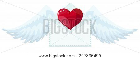 Love letter icon. Flat illustration vector icon for web