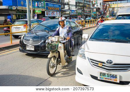 Thailand Road Traffic. Chiang Mai