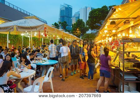 Outdoor Food Court Singapore