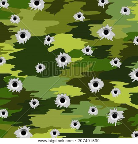 Illustration of camouflage military textiles as a background