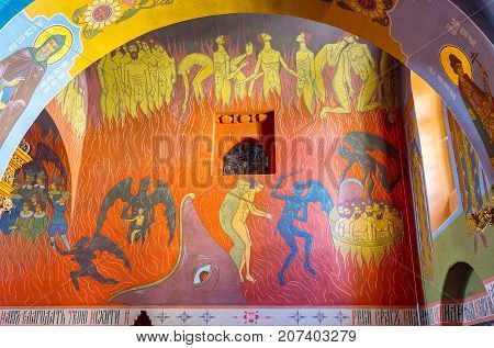 Colorful Frescoes In Holy Trinity Cathedral