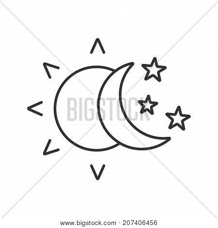 Sun Moon Stars Linear Vector Photo Free Trial Bigstock