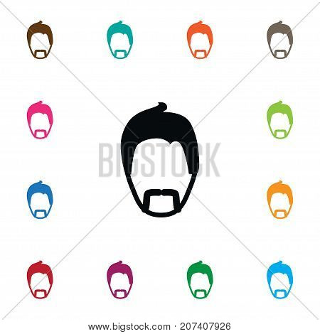 Modern Gentleman Vector Element Can Be Used For Moustache, Gentleman, Mister Design Concept.  Isolated Moustache Icon.