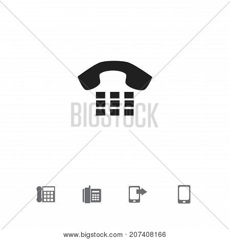 Set Of 5 Editable Gadget Icons. Includes Symbols Such As Calling Device, Smartphone, Call And More
