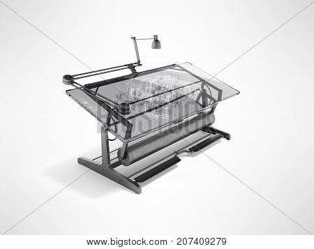 Electronic Culm Drawing Drawing 3D Rendering On Gray Background