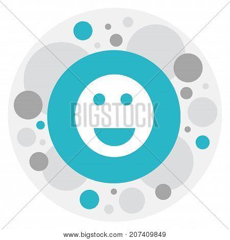 Vector Illustration Of Internet Symbol On Smile Icon