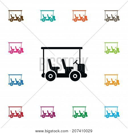 Golf Cart Vector Element Can Be Used For Golf, Cart, Sport Design Concept.  Isolated Sport Icon.