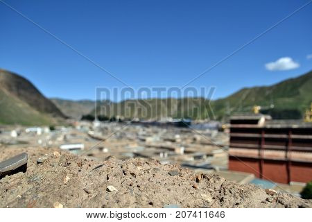 A View On Residential Area Of Labrang Monastery In Xiahe, Amdo Tibet