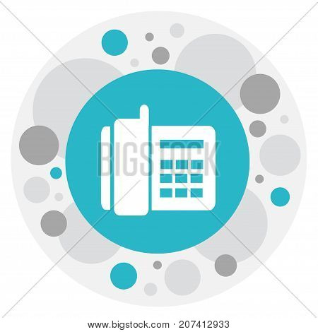 Vector Illustration Of Phone Symbol On Office Telephone Icon