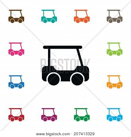 Putter Vector Element Can Be Used For Golf, Cart, Caddy Design Concept.  Isolated Caddy Icon.