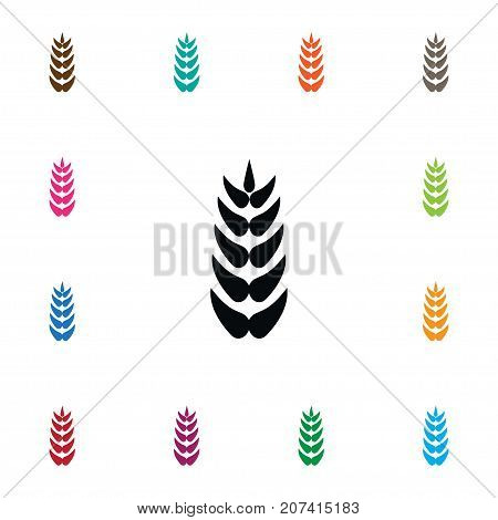 Wheat Vector Element Can Be Used For Wheat, Grain, Harvest Design Concept.  Isolated Grain Icon.