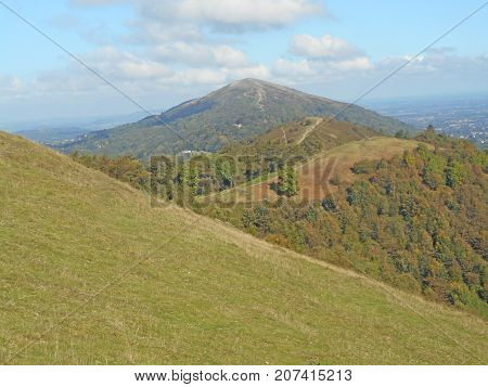 Path across the Malvern Hills in Worcestershire