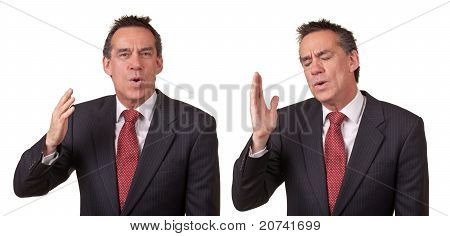 Attractive Business Man Smelling Something Bad