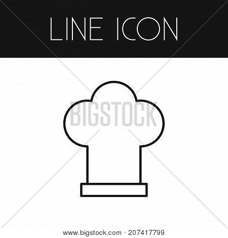 Cooking Hat Vector Element Can Be Used For Cooking, Hat, Uniform Design Concept.  Isolated Uniform Outline.