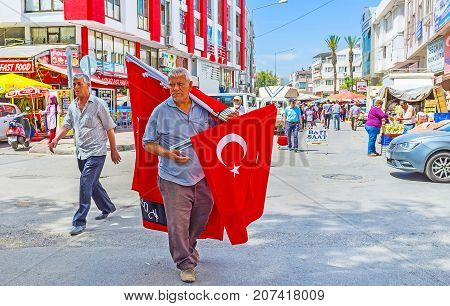 The Street Vendor Of Flags, Antalya