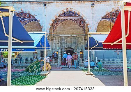 The Entrance To Muratpasa Mosque, Antalya