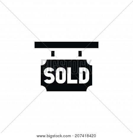 Sold Sign Vector Element Can Be Used For Sold, Purchase, Realtor Design Concept.  Isolated Purchase Realtor Icon.