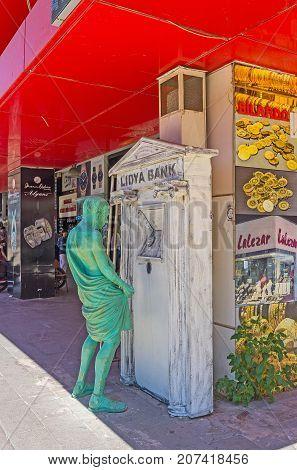 Lidya Bank Statue In Antalya