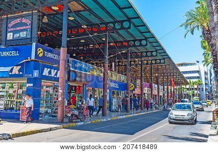 Covered Market In Ataturk Boulevard, Antalya