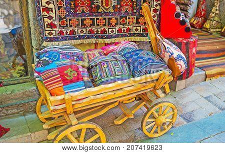 The Wooden Cart At Souvenir Store, Antalya