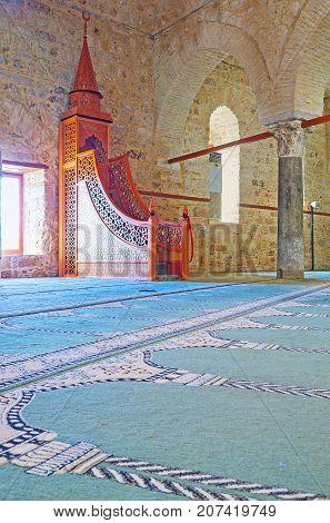 Historic Seljuk Alaaddin Mosque In Antalya