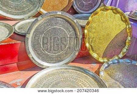 Decorative Metal Dishes In Antalya Market