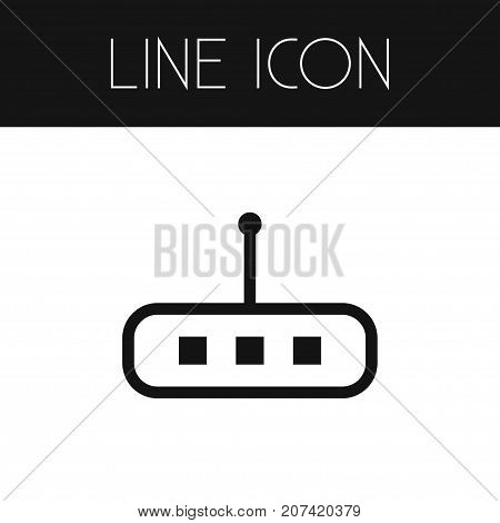 Router Vector Element Can Be Used For Router, Modem, Wifi Design Concept.  Isolated Wifi Outline.